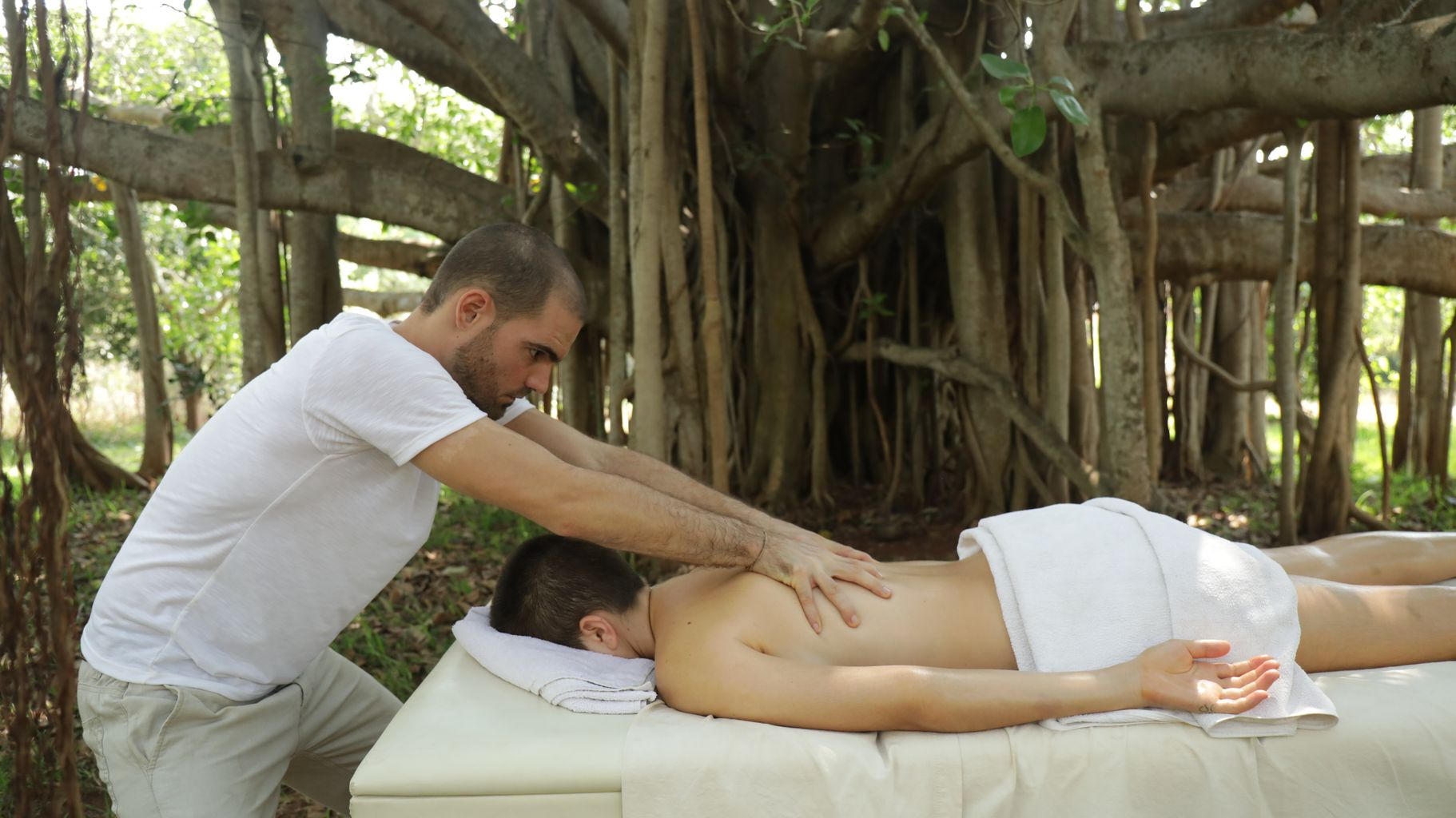 compressed abhyanga massage